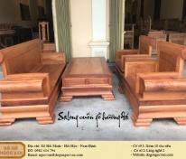 Salong hộp tựa cuốn gỗ hương